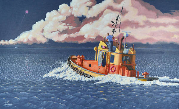 Painting - Mayday- I Require A Tug by Gary Giacomelli