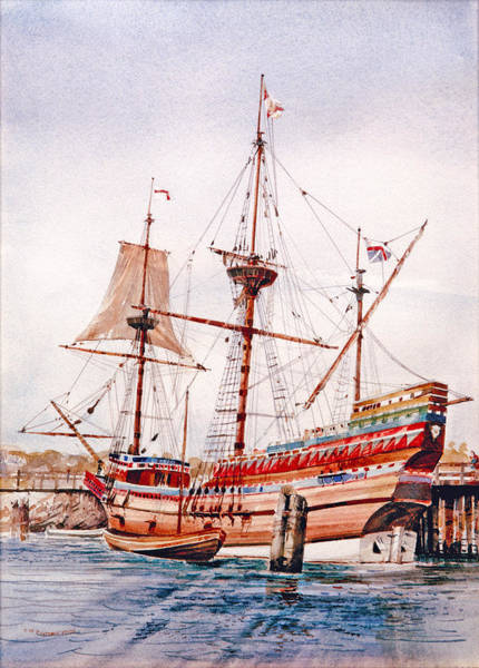 Painting - Mayflower II  by P Anthony Visco