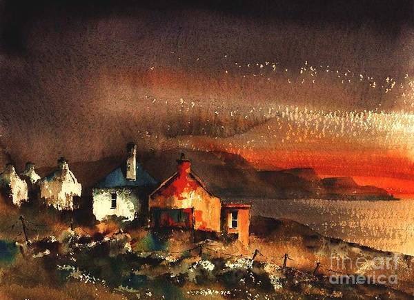 Painting - Mayo... Achill.. Pollagh Sunset by Val Byrne