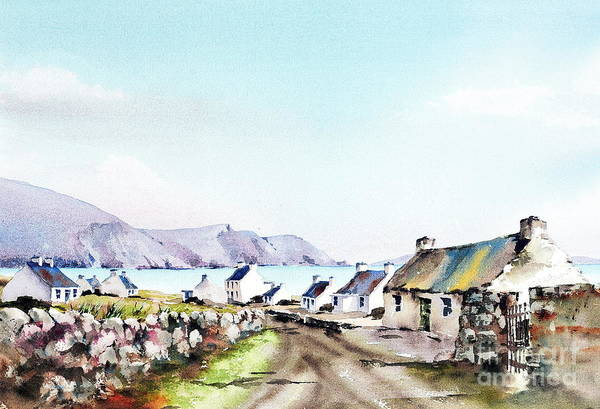 Painting - Mayo... Keel Laneway, Achill by Val Byrne