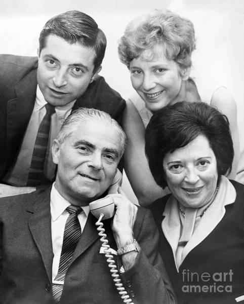 William And Mary Photograph - Mayor Abraham Beame And His Family. 1965 by William Jacobellis