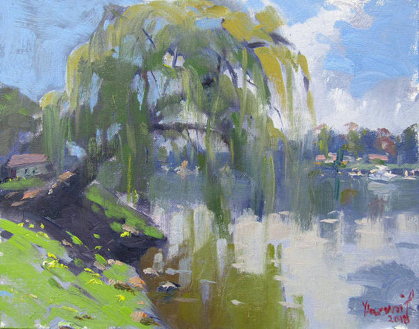 Lake House Painting - Mayors Park by Ylli Haruni