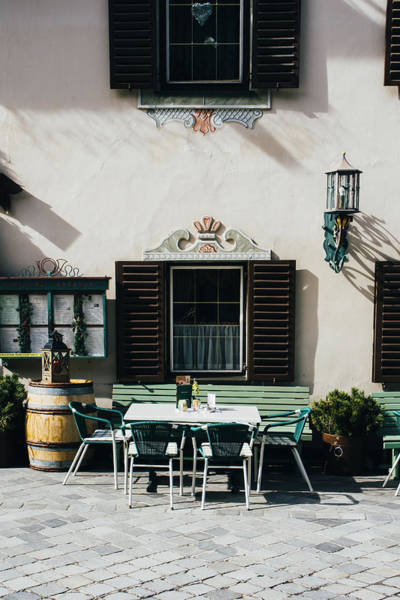 Wall Art - Photograph - Mayrhofen Restaurant Exterior by Pati Photography