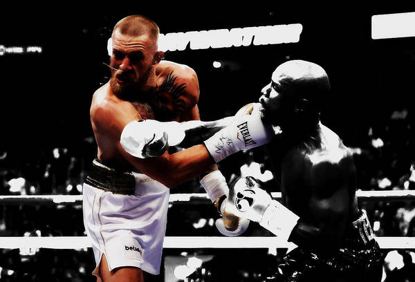 Boxing Mixed Media - Mayweather And Mcgregor Bamm                by Brian Reaves