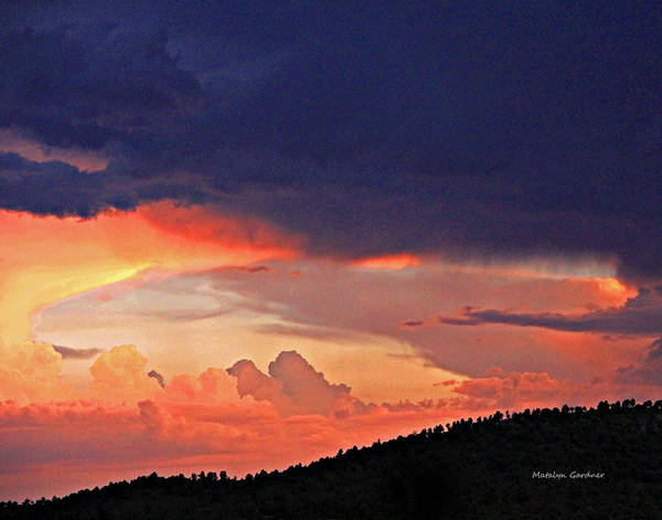 Photograph - Mazatzal Peak Sunset by Matalyn Gardner