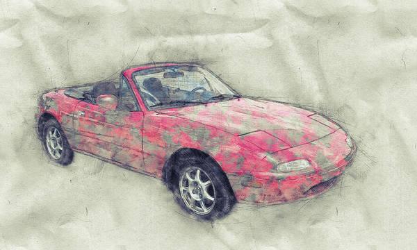 Wall Art - Mixed Media - Mazda Mx-5 Miata 1 - Mazda Roadster - Automotive Art - Car Posters by Studio Grafiikka