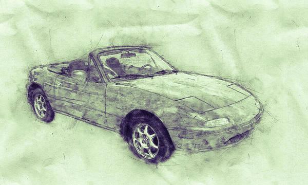 Wall Art - Mixed Media - Mazda Mx-5 Miata 3 - Mazda Roadster - Automotive Art - Car Posters by Studio Grafiikka