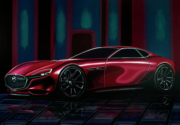 Painting - Mazda Rx Vision 2015 Painting by Paul Meijering
