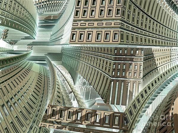 Digital Art - Maze by Bernard MICHEL
