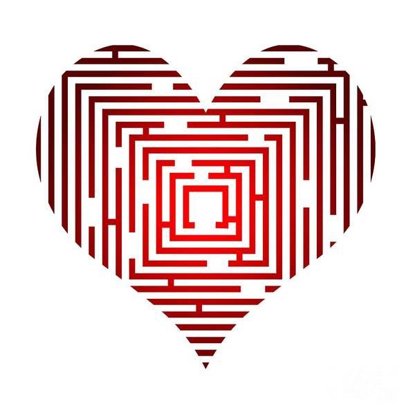 Wall Art - Digital Art - Maze In The Heart by Michal Boubin
