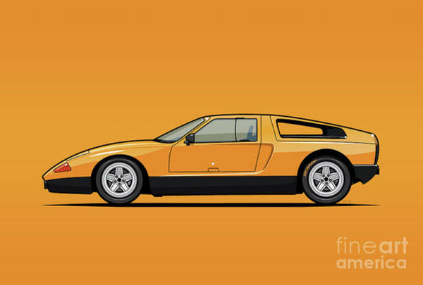 Wall Art - Digital Art - Mb C111-ii Concept Car by Monkey Crisis On Mars