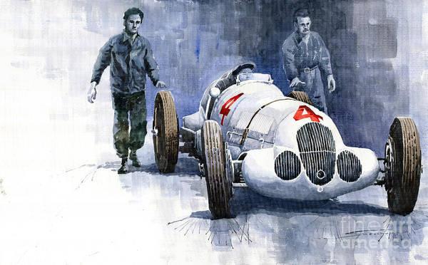 1937 Wall Art - Painting - Mb W125 Gpcar 1937 by Yuriy Shevchuk
