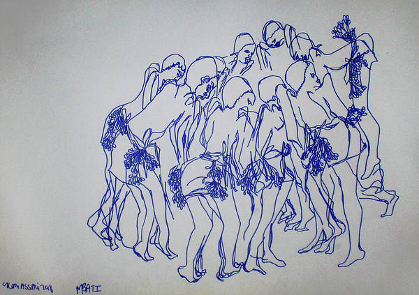 Painting - Mbati Loudou Traditional Dance  Central African Republic by Gloria Ssali