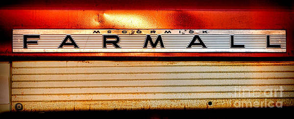 Mccormick Wall Art - Photograph - Mc Cormick Farmall Antique Nameplate by Olivier Le Queinec