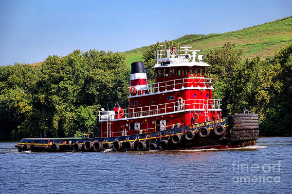 Tug Boat Photograph - Mcallister Responder by Olivier Le Queinec