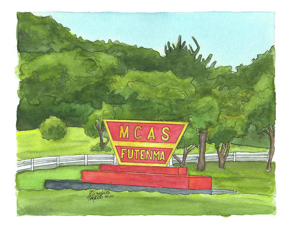 Painting - Mcas Futenma Welcome Sign by Betsy Hackett