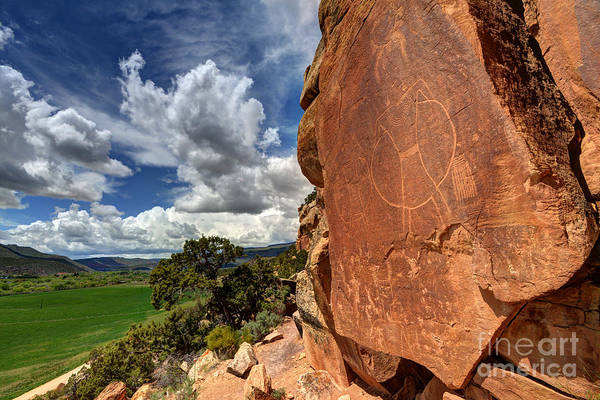Petroglyph Photograph - Mcconkie Ranch Petroglyph 1 - Utah by Gary Whitton
