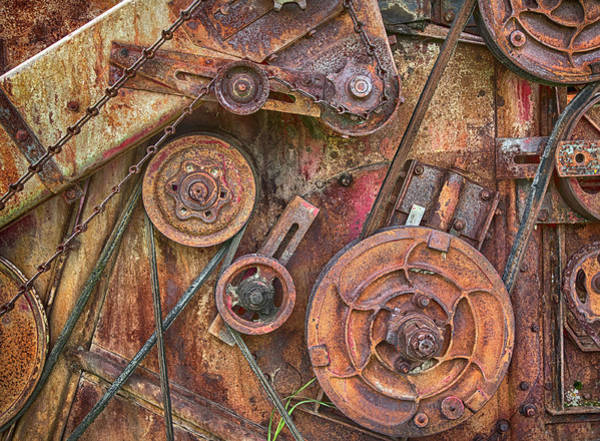 Photograph - Mccormick Combine Harvester Detail by Theresa Tahara