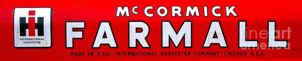 Mccormick Wall Art - Photograph - Mccormick Farmall By International Harvester by Olivier Le Queinec
