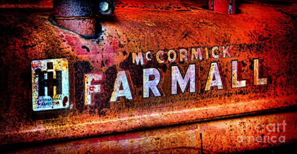 Manufacturers Photograph - Mccormick Farmall Grunge by Olivier Le Queinec