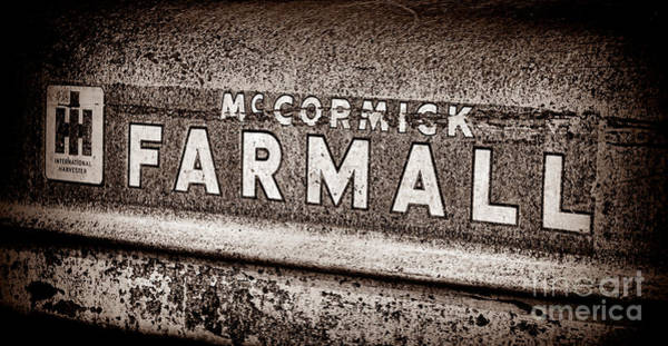 Mccormick Photograph - Mccormick Farmall Grunge Sepia by Olivier Le Queinec