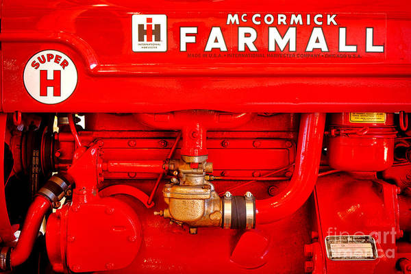 Mccormick Wall Art - Photograph - Mccormick Farmall Super H by Olivier Le Queinec