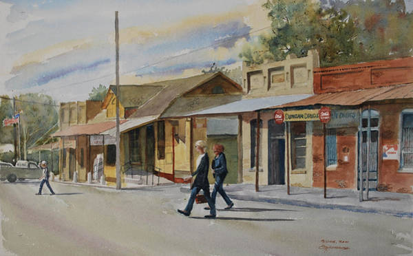 Central Texas Painting - Mcdade, Texas by E M Sutherland