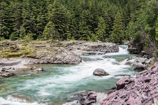 Photograph - Mcdonald Creek 8134 by Teresa Wilson