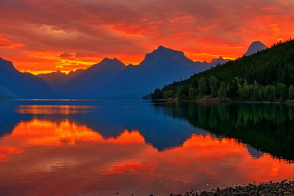 Photograph - Mcdonald Sunrise by Greg Norrell