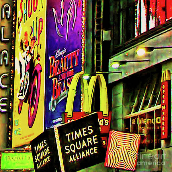 Photograph - Mcdonalds Hamburger In Time Square Midtown Manhattan New York City 20180517 Square by Wingsdomain Art and Photography