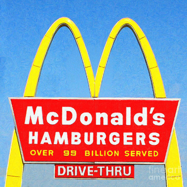 Photograph - Mcdonalds Hamburgers . Over 99 Billion Served by Wingsdomain Art and Photography