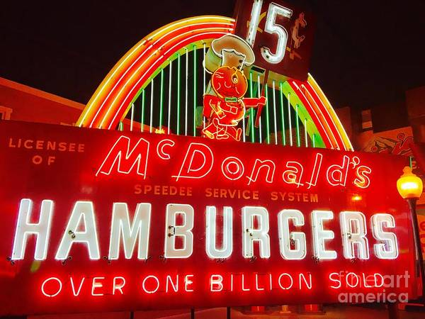 Photograph - Mcdonald's Historical Neon by The Art of Alice Terrill