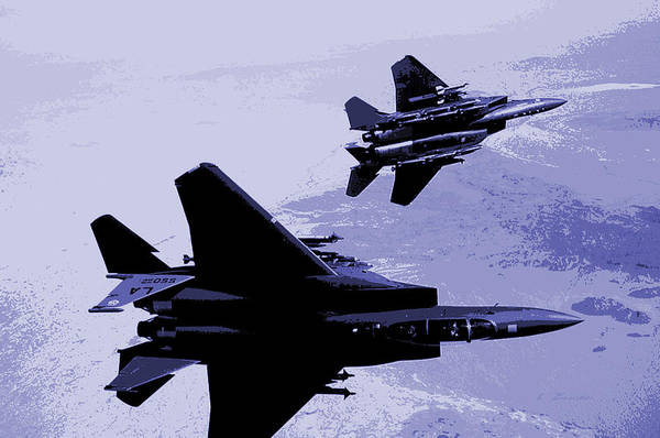 Wall Art - Photograph - Mcdonnell Douglas F-15 Eagles In Action by L Brown