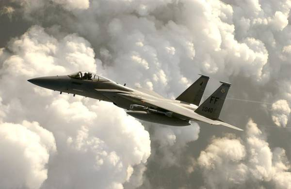 Wall Art - Photograph - Mcdonnell Douglas F-15 Strike Eagle by L Brown