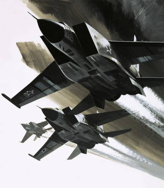 Father Sky Wall Art - Painting - Mcdonnell Douglas F15 Eagle Jet Fighter by Wilf Hardy