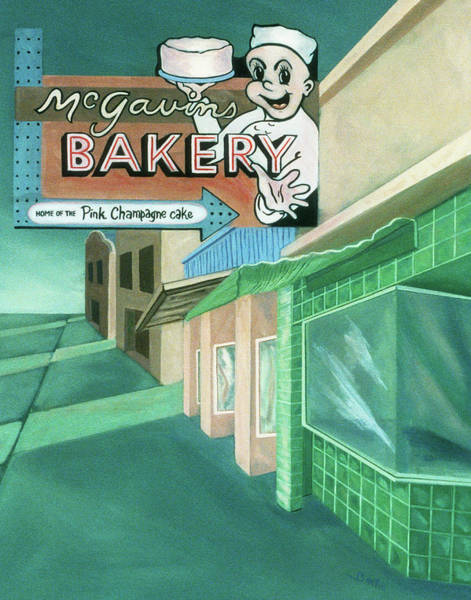 Painting - Mcgavins's Bakery by Sally Banfill