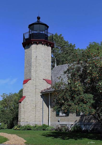 Historical Marker Photograph - Mcgulpin Point Lighthouse by G Berry