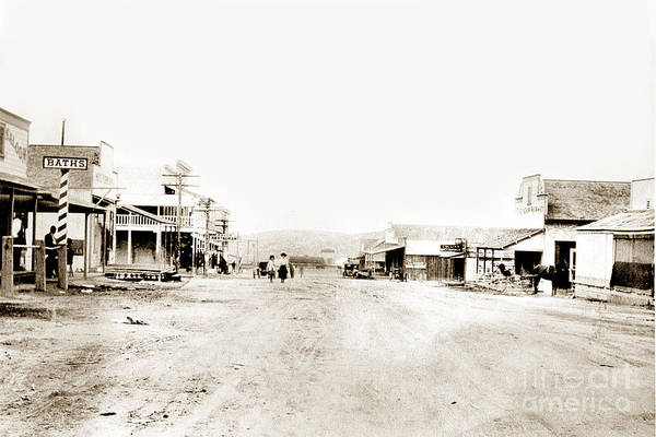 Photograph - Mckittrick Also Known As Asphalto Kern Co. Circa 1910 by California Views Archives Mr Pat Hathaway Archives
