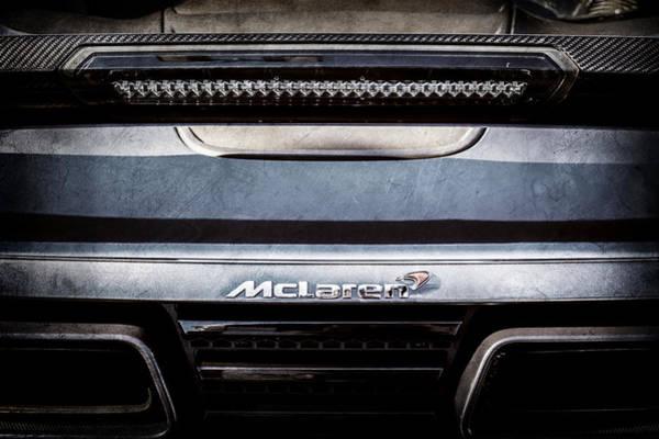 Photograph - Mclaren 12c Spider Rear Emblem -0106ac by Jill Reger