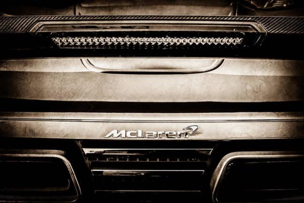 Photograph - Mclaren 12c Spider Rear Emblem -0106s by Jill Reger