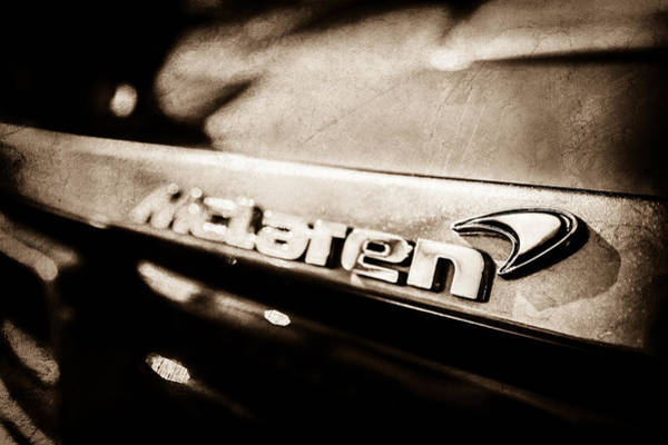 Photograph - Mclaren 12c Spider Rear Emblem -0143s by Jill Reger