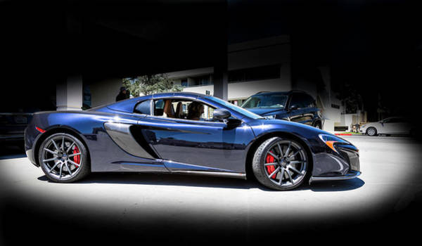 Photograph - Mclaren 650s  Midnight Blue  by Gene Parks