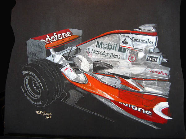 Painting - Mclaren F1 Alonso by Richard Le Page
