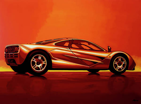 Car Show Painting - Mclaren F1 1994 Painting by Paul Meijering