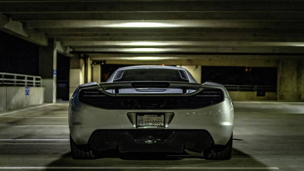Photograph - Mclaren Mp4-12c Rear View by Randy Scherkenbach
