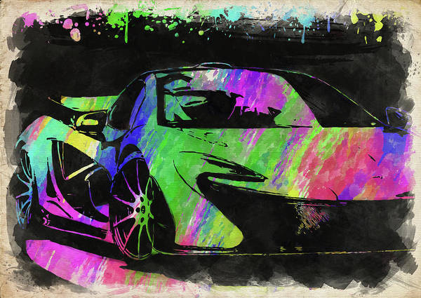 Exotic Car Photograph - Mclaren P1 Watercolor by Ricky Barnard