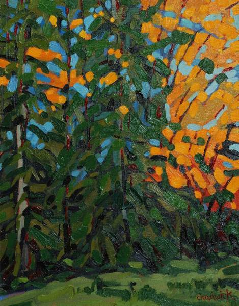 In Canada Painting - Mcmichael Forest Wall by Phil Chadwick