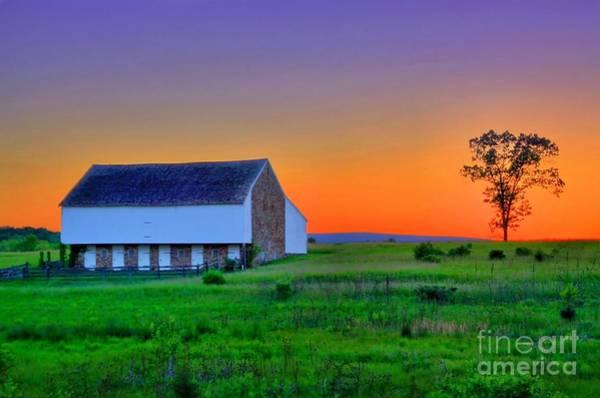 Gettysburg Battlefield Photograph - Mcpherson Farm Gettysburg by DJ Florek