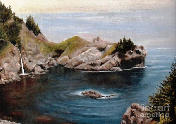 Wall Art - Painting - Mcway Falls, Big Sur by Hazel Holland