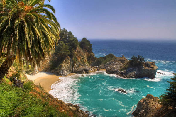 Big Sur Photograph - Mcway Falls by Donna Kennedy